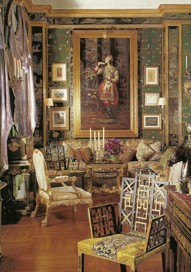Home of Ann Getty: Jacques Emile Blanche paints Nijinsky, the painting hangs in the Living Room