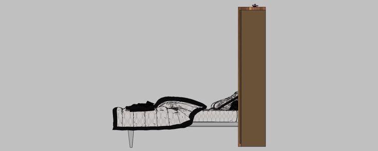 Amenajare garsoniera mobilier camera deschis vedere stânga