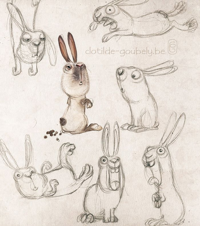 Cartoon Animal Character Design : Best images about creature design bunnies rabbits