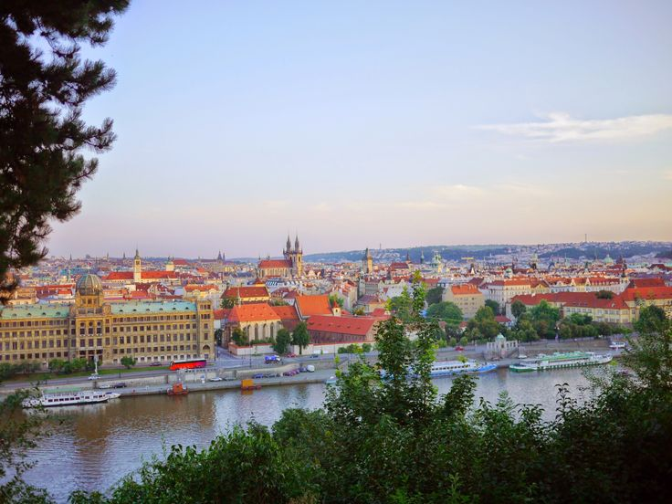 View of Prague from the Letna Beer Garden