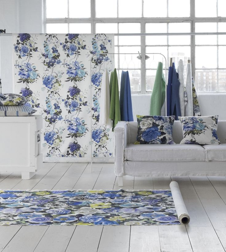 Interior Design Trend, Painterly Florals | Amrapali II Fabric by Designers Guild | Jane Clayton