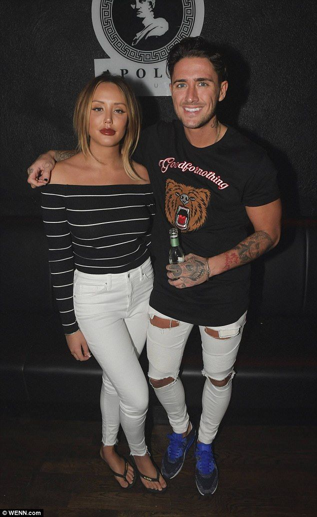 Party animals: An appearance at Kildare's Apollo was no doubt the perfect night for Charlotte Crosby and boyfriend Stephen Bear as they partied at the Irish nightclub on Saturday
