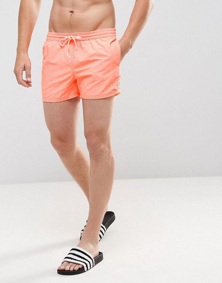 Get this Pull&Bear's swimsuit now! Click for more details. Worldwide shipping. Pull&Bear Swim Shorts In Orange - Orange: Swim shorts by Pull Bear, Drawstring waistband, Mesh lining, Side pockets, Single back pocket, Machine wash, 100% Polyester. Born in the 90s, Pull Bear aren�t ones to suffer stereotypes. With a big nod to street style, Pull Bear opt into a laid-back, easy-wearing aesthetic, where age isn�t an obstacle. Sweatshirts, T-shirts and jeans make up their core collection alongs...