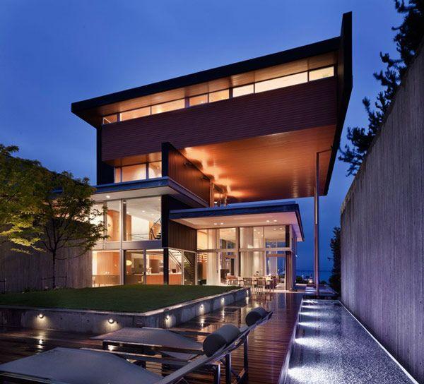 Modern lake house interior design House and home design