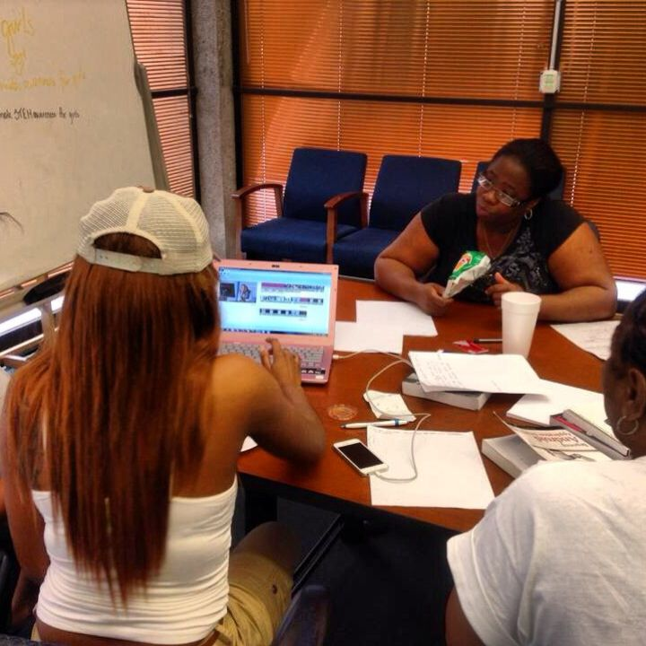 Participants working hard to finish their projects at the International Women's Hackathon at FAMU!