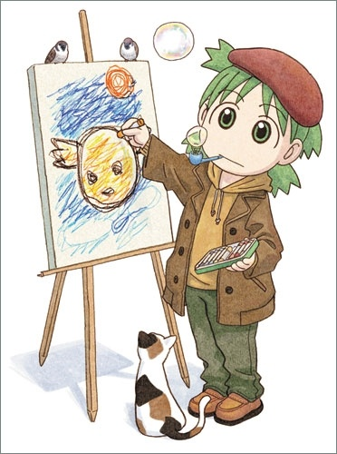 Yotsuba... She's so cute! I love this pic! XD I would loveee to have this poster in my room!....