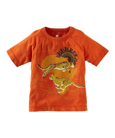 Take a look at this Carrot 'Racing Cheetah' Tee - Infant & Boys by Tea on #zulily today!