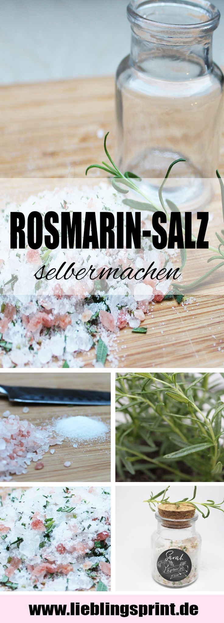 Rosmarin Salz als Gastgeschenk für eure Hochzeit wirklich ganz leicht selber machen mit dieser Anleitung. Die Gäste auf eurer Hochzeit werden überr… – Olga Brooks