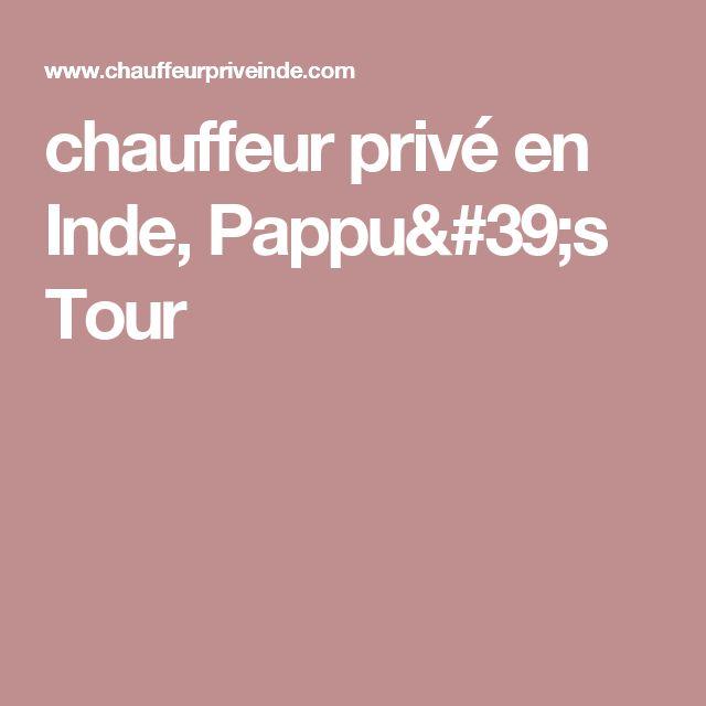 chauffeur privé en Inde, Pappu's Tour