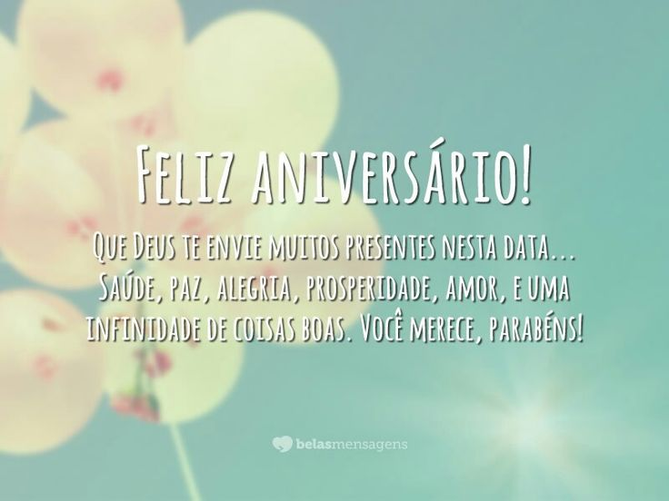 Mensagem Feliz Aniversario Para Facebook: 53 Best Images About Parabéns... On Pinterest
