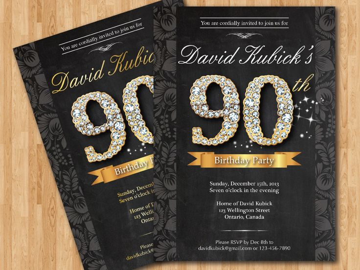 Download Now Free Printable 90th Birthday Invitations