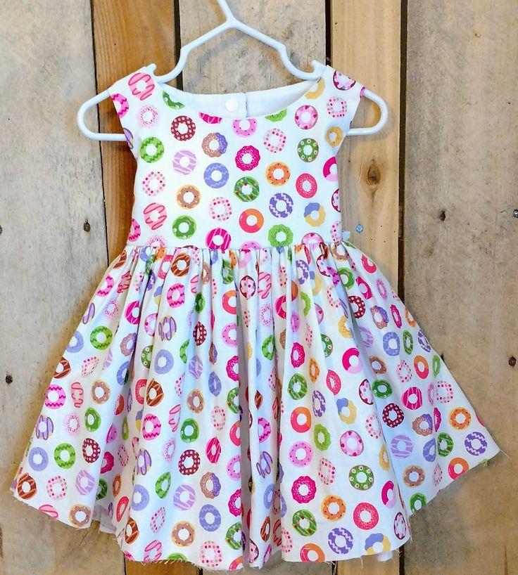 Donut dress,baby girl donut dress,toddler donut dress,donut birthday dress,birthday party dress,donut theme party,first birthday dress by MightyTotsDressShop on Etsy
