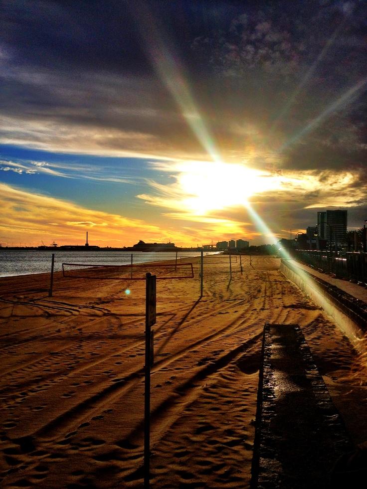 Port Melbourne Beach.