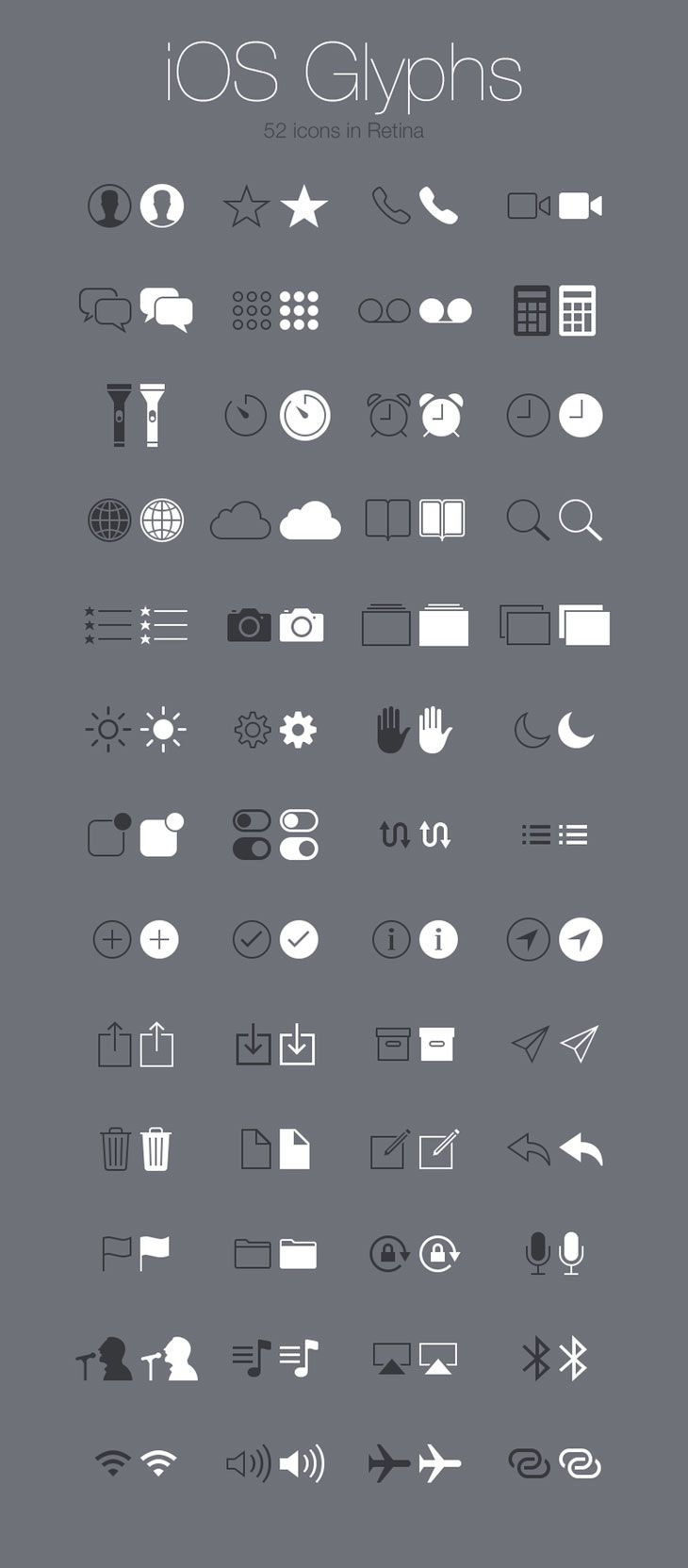 Free Icons for Web and User Interface Design # 7