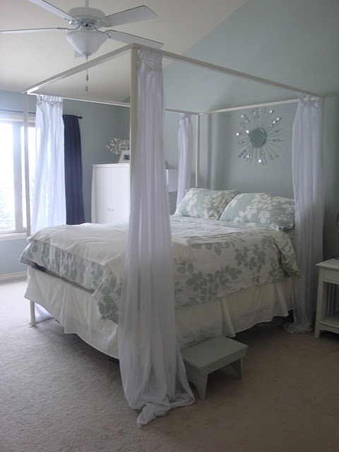 17 best ideas about curtain over bed on pinterest bed for Canopy over bed