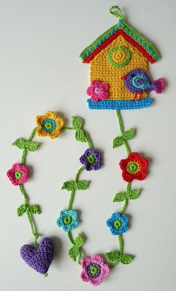adorable crochet birdhouse for Kelly from TeenyWeenyDesign on etsy $27.50