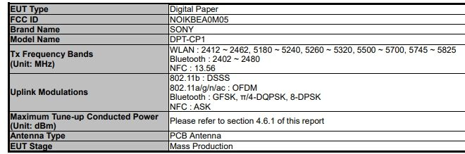 Sony DPT-CP1 Digital Paper device with E Ink display coming soon? - Liliputing