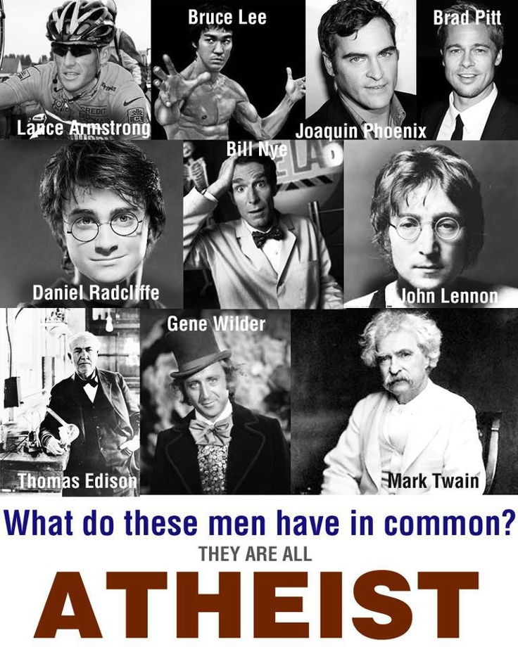 all of these men are atheists. standing on the shoulders of giants <3