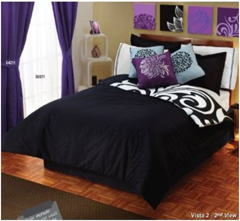 Black And White And Purple Bedroom 38 best bedroom ideas images on pinterest | bedroom ideas, home