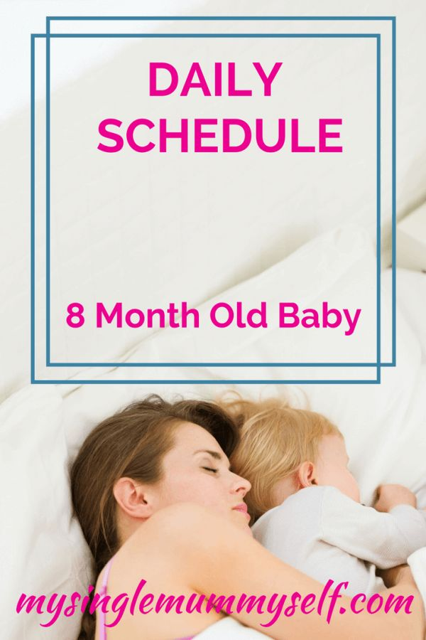 Daily schedule and routine for an 8 month old baby.  How we structure our day.