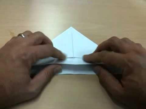 Simpel bootje van papier vouwen - YouTube
