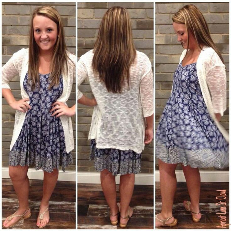 Perfectly Paisley ‪#‎PPY4233‬ This is a simple and sweet dress in a navy and white paisley print. Going to a flea or farmers market? This is the outfit for you! Dress: $42 Sweater: $46 Sandals: $45 To add this simple and sweet dress to your closet, fill out this form at http://form.jotform.us/form/42265697798173. For immediate assistance call us at 320-774-1533! We ship nationwide! Don't forget to follow us on Facebook at www.facebook.com/ApricotLaneStCloud and on Instagram at…