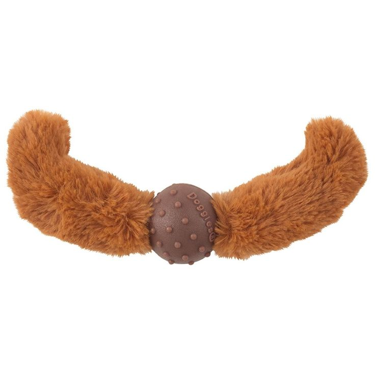 Dogs will look amazing while playing with the Doggles Mustache Dog Toy in Rust Straight! Mustache has an inside layer of recycled ballistic fabric Made from recycled water and soda bottles Vanilla sce