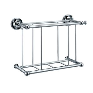 chrome magazine rack wall mounted | Gatco G1556 Traditional Wall Mount Magazine Rack - Chrome