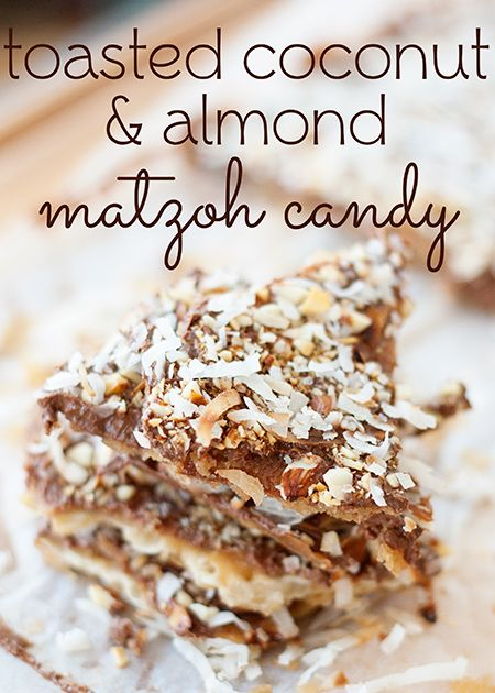Toasted Coconut & Almond Matzoh Candy (she: Anne) - Or so she says...