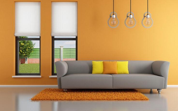 Stylish Design, Orange, Оранжевый, Living Room.