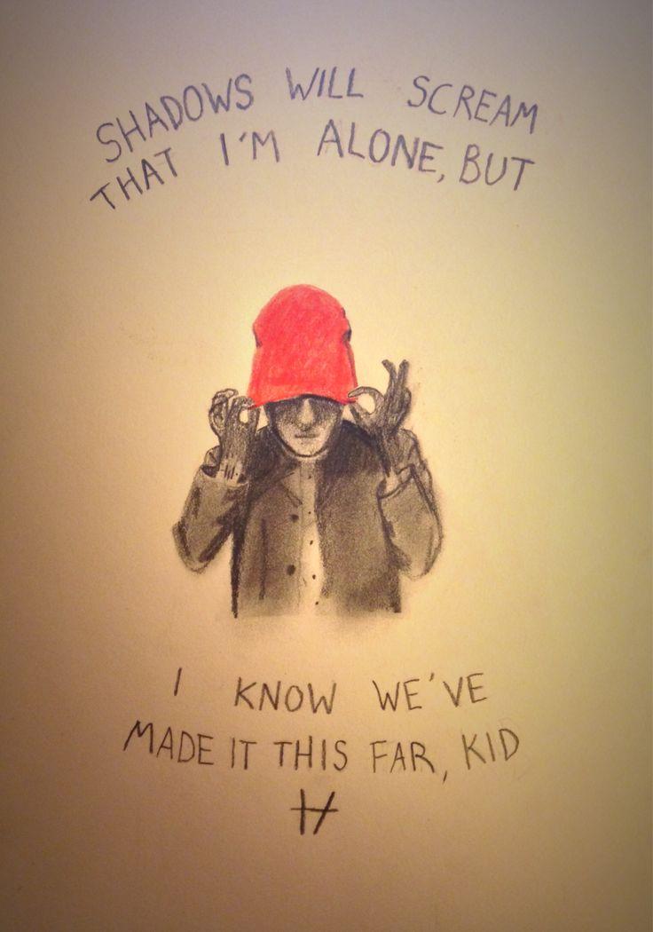 Day 6 of 30 day challenge – shadows. Blurryface Tyler with lyrics from migraine. (twenty one pilots fan art) by @maya876876Anis Kamaruddan
