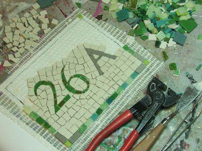 Séverine Peugniez Créations: Numéro de maison en mosaïque