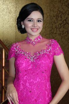 Love pink kebaya modern dress 2016 - Pink