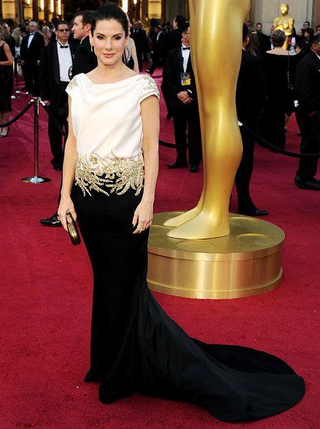 Sandra Bullock - 2012 Oscars - Marchesa