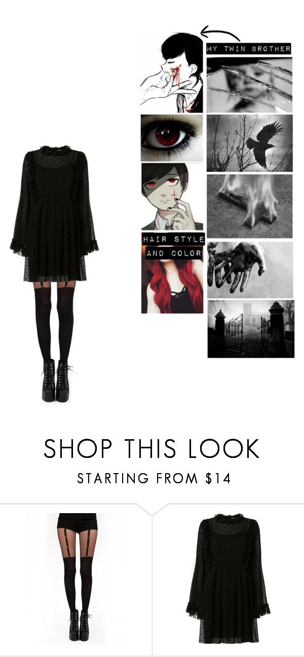 """Me in Lucius (video game)"" by pastelgothprincess27 ❤ liked on Polyvore featuring Pamela Mann and See by Chloé"