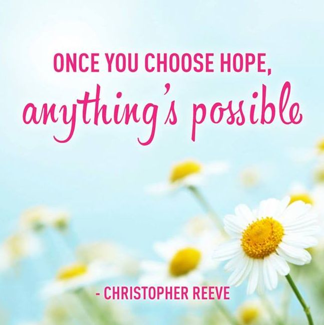 Breast Cancer Awareness Month — Always choose hope.