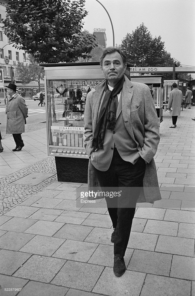 British actor James Mason (1909 - 1984) takes a stroll in Berlin, Germany, 24th October 1964.