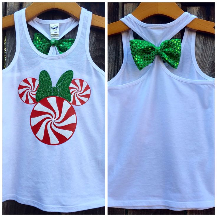 Peppermint Minnie Mouse Bow Back Tank Top, Minnie, Christmas, Mickey's Very Merry Christmas Party, Girls, Toddler, Baby, Disney Family Shirt by 31Blossoms on Etsy https://www.etsy.com/listing/256256940/peppermint-minnie-mouse-bow-back-tank