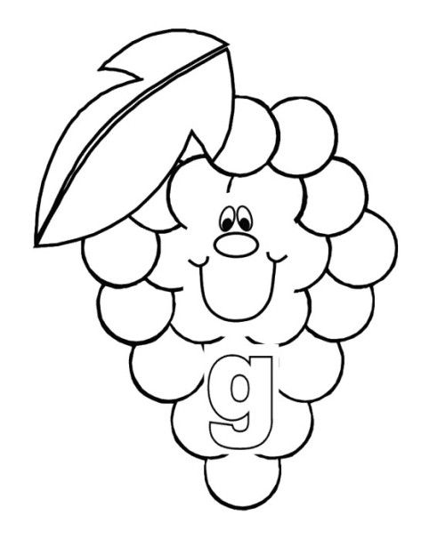 G Is For Fruit Coloring Pages