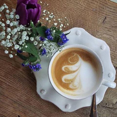 What better way to start the day than with a cup of coffee, brewed just the way you like, and a handful of fresh flowers. #elevatetheeveryday #morningmusings