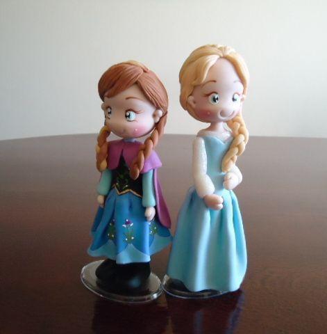 Elsa e Anna Frozen, topo de bolo