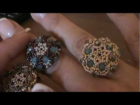 "▶ tutorial anello ""Charlotte"" ( tutorial ring ""charlotte"") - YouTube"