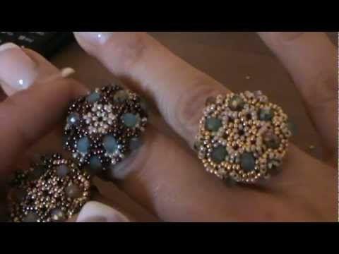 "▶ tutorial anello ""Charlotte"" ( tutorial ring ""charlotte"") - YouTube"