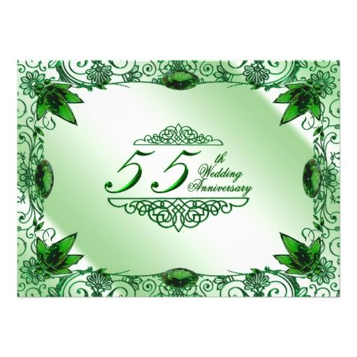55th Wedding Anniversary Invitation Damask 55th Wedding