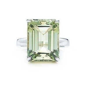 Tiffany & Co. - Tiffany Sparklers green quartz cocktail ring in sterling