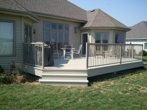 Clay Azek Decking With Taupe Regal Railing I Want White