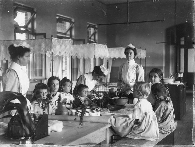 Tea time at the Royal Children's Hospital, Brisbane, 1890-1900 by State Library of Queensland, Australia, via Flickr