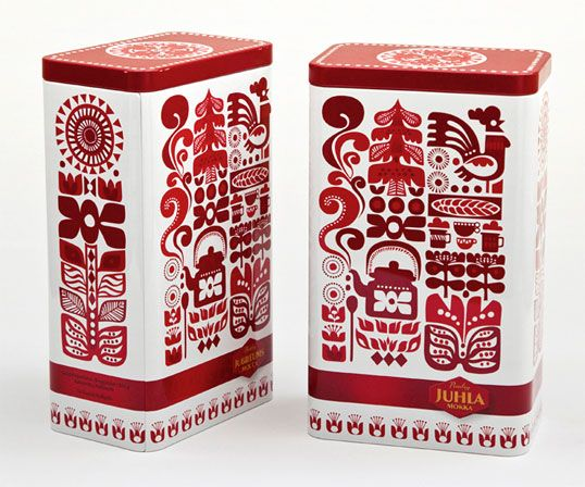 Paulig Coffee - Designed by Sanna Annukka | Country: United Kingdom Special edition tin for Finnish coffee brand Paulig.