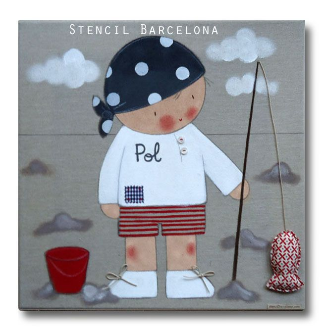 Cuadros infantiles personalizables de stencil barcelona for Cuadros infantiles al oleo