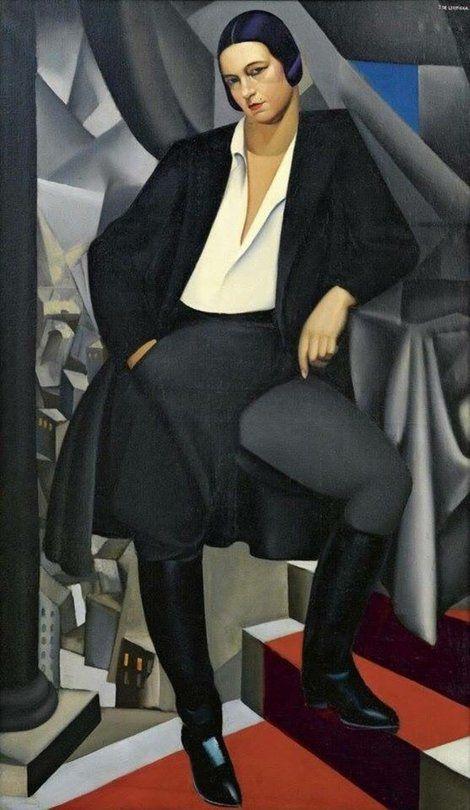 Tamara de Lempicka, Portrait of the Duchess of La Salle, 1925  on ArtStack #tamara-de-lempicka-lempicka #art